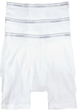 3-Pack Essential Fit Cotton Staycool+ Midway Boxer Briefs