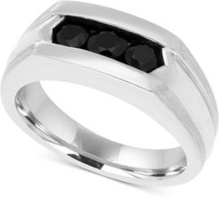 Black Sapphire Ring (1 ct. t.w.) in Sterling Silver and Black Rhodium Plate