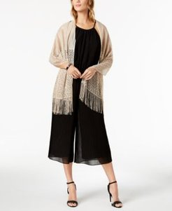 Inc Knit Fringe Evening Wrap, Created for Macy's