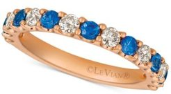 Emerald (1/3 ct. t.w.) & Diamonds (1/2 ct. t.w.) Band in 14k Rose Gold (Also Available in Ruby & Sapphire)