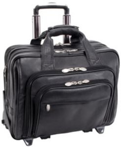 """Gold Coast, 17"""" Patented Detachable -Wheeled Laptop Briefcase"""