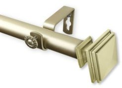 """Bedpost Curtain Rod 1"""" Od 120-170 inch"""