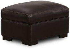 "Closeout! Gansey 31"" Leather Ottoman"