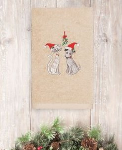 Closeout! Linum Home Christmas Cute Couple 100% Turkish Cotton Hand Towel Bedding
