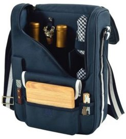 Bordeaux Insulated Wine and Cheese Tote - Glass Wine Glasses