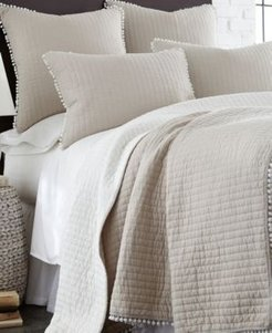 Home Pom Pom Taupe Full/Queen Quilt