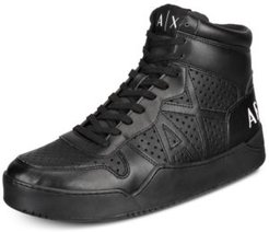 Armani Exchange Men's High-Top Sneakers Men's Shoes