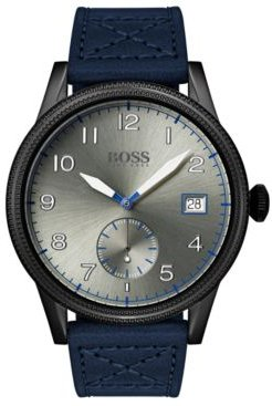 Legacy Blue Leather Strap Watch 44mm