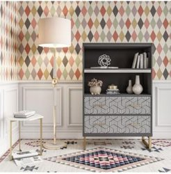 by Cosmopolitan Scarlett Bookcase with Drawers