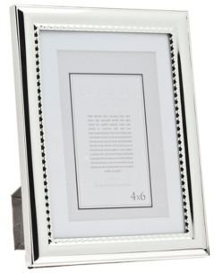Polished Silver Frame with Bead - 5x7