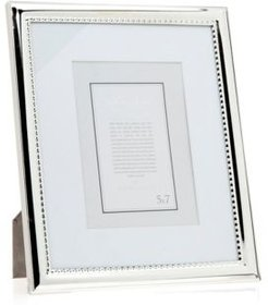 Polished Silver Frame with Beads - 8x10