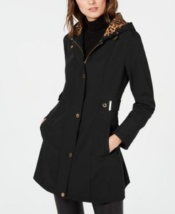 Hooded Water-Resistant Raincoat, Created for Macy's