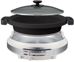 """Gourmet d'Expert Electric Skillet Two Large 12"""" Pans"""