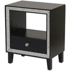 Heather Ann Bon Marche Mirrored Accent Cabinet with Open Shelf