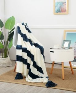 """Sheffield Chenille 50"""" x 60"""" Knitted Throw"""