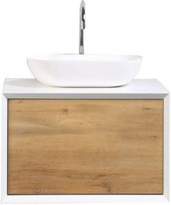 Piscis Bathroom Vanity with Integrated Porcelain Sink