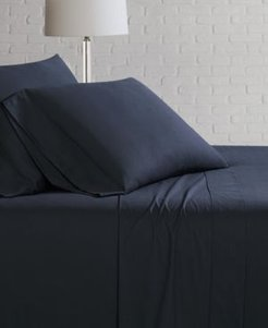Solid Cotton Percale Full Sheet Set Bedding