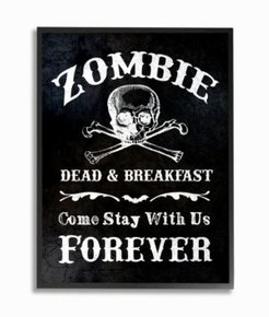 """Zombie Bed and Breakfast Framed Giclee Art, 16"""" x 20"""""""