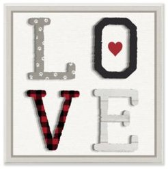 "L O V E Texture Collage Dog Paw Print Wall Plaque Art, 12"" x 12"""