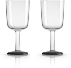 by Palm Tritan Wine Glass with Black non-slip base, Set of 2