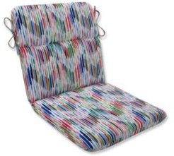 Drizzle Summer Rounded Corners Chair Cushion