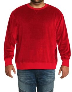 Mvp Collections Men's Big & Tall Velour Sweatshirt
