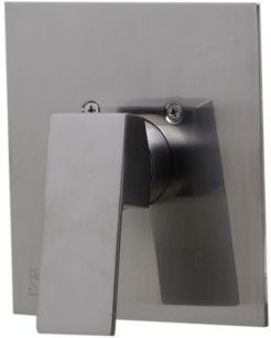 Brushed Nickel Shower Valve Mixer with Square Lever Handle Bedding