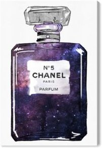 "Galaxy to Paris Parfum Canvas Art - 24"" x 16"" x 1.5"""