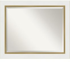 "Eva Gold-tone Framed Bathroom Vanity Wall Mirror, 33.25"" x 27.25"""