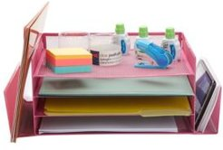Desk Organizer with Side Storage Compartments, Great For Office, School, Teachers