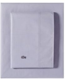 Lacoste Washed Percale Solid King Sheet Set Bedding