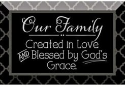 """Our Family Glass Plaque with Easel, 6"""" x 4"""""""