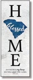 """South Carolina Home-Blessed Wood Wall Plaque with Hanger, 5.5"""" x 12"""""""