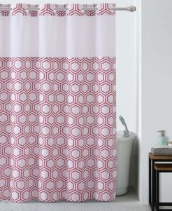 Metro Hex Shower Curtain with Peva Liner Bedding
