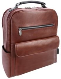 """Logan 17"""" Dual-Compartment Laptop Tablet Backpack"""