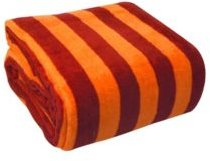 Luxury Printed Stripe Microplush Blanket, Full/Queen Bedding