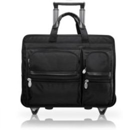 "Clinton, 17"" Patented Detachable -Wheeled Laptop Briefcase"