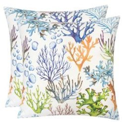 Outdoor Pillow, Coral - Set of 2