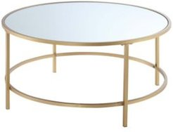 Gold Coast Faux Mirrored Round Coffee Table