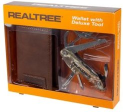 Trifold Men's Wallet with Camo Deluxe Multi Tool
