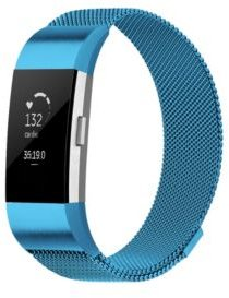 Unisex Fitbit Charge 2 Blue Stainless Steel Watch Replacement Band