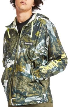 Urban Camo Print Windbreaker Jacket
