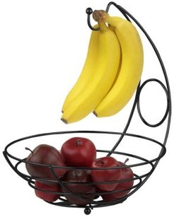 Hds Trading Corp Wire Collection Fruit Bowl with Banana Tree