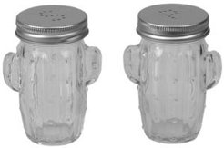 Hds Trading Corp Cactus Glass Salt and Pepper Set, Set of 2