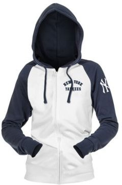 New York Yankees Women's Zip-Up Contrast Hoodie