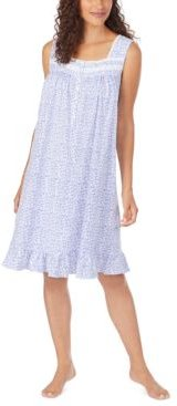 Cotton Floral-Print Knit Nightgown