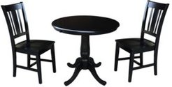 """36"""" Round Extension Dining Table with 2 San Remo Chairs"""