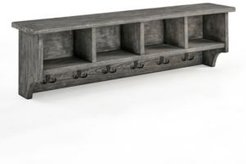 Pomona Metal and Reclaimed Wood Entryway Coat Hook with Storage Cubbies