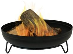 Steel Outdoor Wood-Burning Fire Pit Bowl with Stand