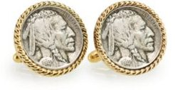 1913 First-Year-Of-Issue Buffalo Nickel Rope Bezel Coin Cuff Links